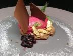 Photo Chocolat noir Bio équitable et sorbet maison à la betterave - Bistrot Gourmand