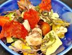 Photo Salade de poulpe, pommes de terre nouvelles, chorizo et sauce vierge - Bistrot Gourmand